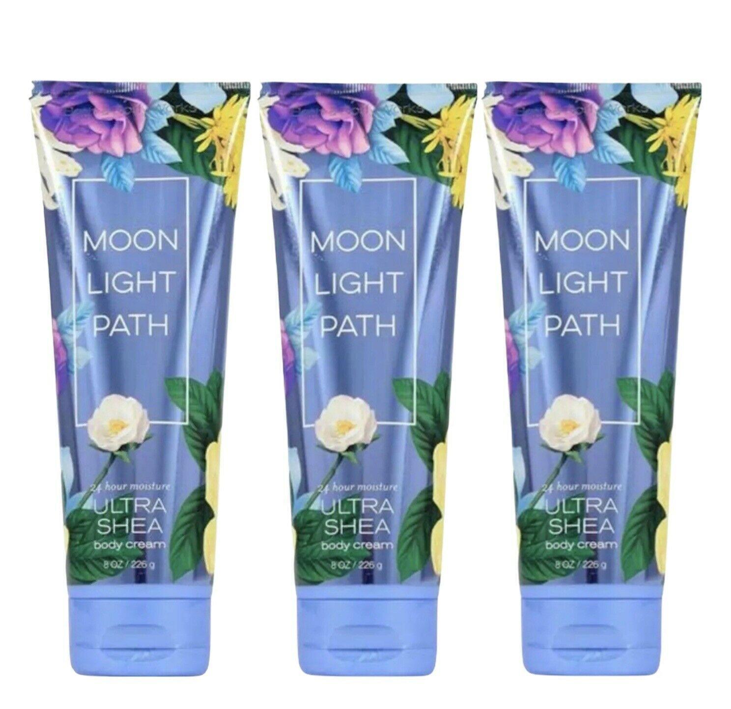 3-Pack Bath & Body Works MOONLIGHT PATH Ultra Shea Body Cream Lotion 8 oz 226 g - $44.50