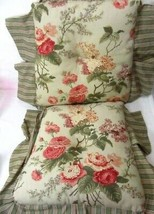 Waverly Brianna Floral Stripe Sage 2-PC Kitchen Dining Chair Cushion Set(s) - $50.00