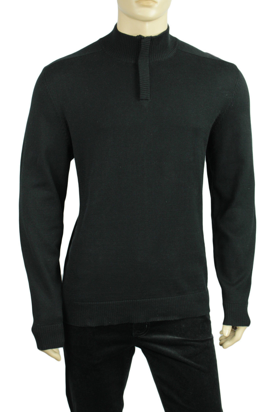 NEW MENS ALFANI HALF ZIP LIGHTWEIGHT SOLID PULLOVER SWEATER $69