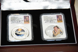 2015 Star Trek Proof  Silver 2 Coin Set Signed By William Shatner NGC PF70UC ER image 11