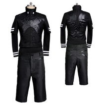 Tokyo Ghoul Kaneki Ken Cosplay Costume Black Outfit Full Set - $114.68