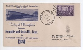 1947 First Trip City of Memphis Streamliner Cover Nashville & Memphis RP... - $9.99
