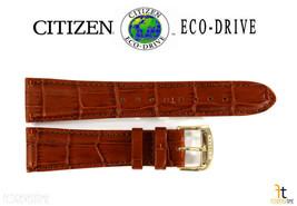 Citizen Eco-Drive AO9003-08E 22mm Lumière Cuir Marron Bracelet de Montre S079764 - $76.27