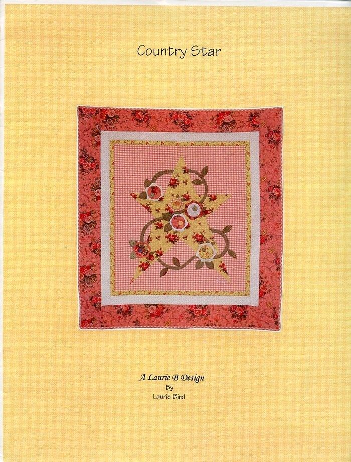 "Primary image for Country Star 42.5"" x 46"" Laurie Bird (Laurie B) Quilt Pattern Booklet NEW"