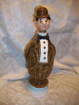 VINTAGE LIQUOR DECANTER MUSIC BOX JOLLY GOOD FELLOW BRITISH MAN BOWLER HAT - $14.84
