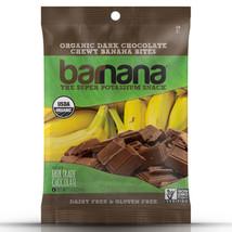 Barnana Organic Dark Chocolate Chewy Banana Bites 1.4 oz Bags - Pack of 12 - $29.31