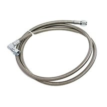 """A-Team Performance Steel Braided Turbo Oil Feed Line 60"""" Length -4AN 90 degree s image 10"""