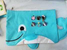 Disney Trading Pins Official Ocean Theme + Swimsuit Sack Whale Pouch Beach - $18.59