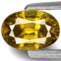INDIA Sphene 0.67 Cts Natural Untreated Greenish Golden Oval - $387.00