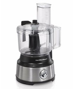 10 Cup Capacity Food Processor 450 Watts with 2 Speeds Plus Pulse Choppi... - $72.68