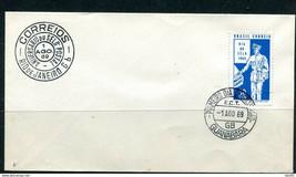 Brazil 1969 Cover Stamp Day Mailman 11401 - $4.95