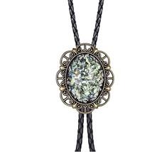 Hobit Opal Bola BOLO Tie Necklace for Men Women Vintage Western Cowboy - $21.99