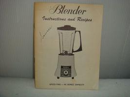 "MONTGOMERY WARDS SIGNATURE BLENDER ""INSTRUCTION MANUAL"" 1950'S - $12.95"
