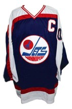 Dale hawerchuck winnipeg jets  retro hockey jersey navy blue   1 thumb200