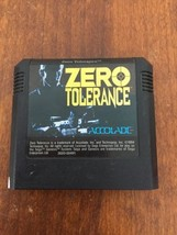 Accolade Sega Zero Tolerance Game Cartridge 1994 - $11.88