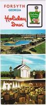 Georgia Postcard Forsyth Holiday Inn Long Card - $2.25