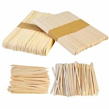 Yolyoo 400pcs Wooden Wax Sticks Wax Spatulas Wax Applicator Craft Sticks for Hai