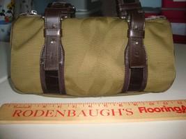 4393e20800 Yves Saint Laurent Olive Green Canvas Brown Velvet Handles Handbag COOL bag  - £109.99 GBP