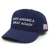Make America Great Again Hat USA Flag Cotton Ajustable Baseball Cap Navy... - $11.68