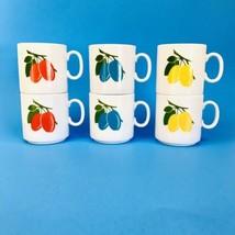 Vtg Seltmann Weiden Mugs 8oz Cups Bavaria W Germany Set/6 Rare Fruit Plu... - $39.99