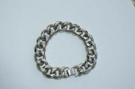 True Vtg NAPIER Heavy Link stainless steel Bracelet ''NICE'' - $37.36