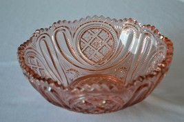 "Imperial Glass Pink Carnival Bowl #438 1951-1972  8"" - $34.65"