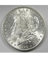 1896-P Silver Morgan Dollar UNC+ Coin AH103 - $47.34