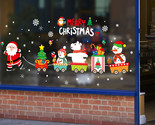 Erry christmas decorations for home santa claus pull train glass window new year 1 thumb155 crop