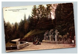 Vintage Early 1900's Postcard Washington Street City Park Portland Orego... - $15.81