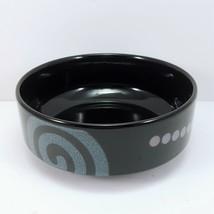 "Mikasa Bix Berry Dessert Bowl 5"" Black Stoneware Geometric Intaglio CAC66 - $8.91"