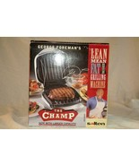 George Foreman The Champ Lean Machine Grill #GRIOAWHT NIB - $22.04