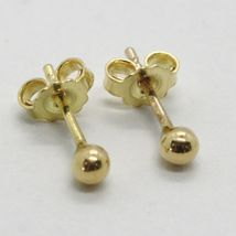 Gelbgold Ohrringe 750 18K, Kugel, Poller, Kugeln, Verschluß Schmetterling image 6