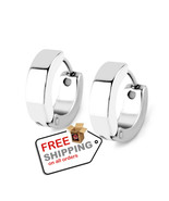 1Pair Cool Punk Men's Stainless Steel Hoop Piercing Earring Ear Stud - $12.00