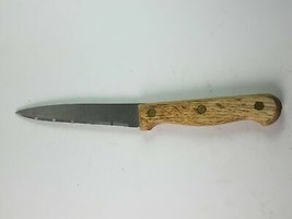 Stainless Kitchen Serrated Blade Utility Knife Wood Handle - $11.51