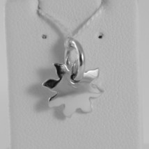 18K WHITE GOLD ENGRAVABLE SUN CHARM PENDANT 11 MM FLAT SMOOTH MADE IN ITALY image 1