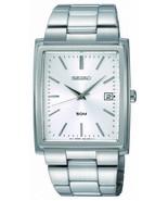 Seiko mens watches quartz rectangular case stainless steel bracelet SKK681 - $151.28
