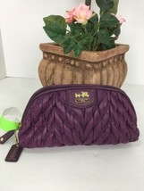 Coach Madison Chevron Nylon Cosmetic Case 46592 Purple M4 - $54.44