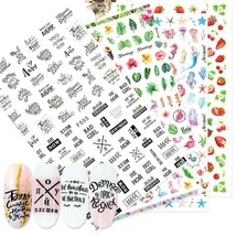 Nail Art Decor Slider 3D Sticker Decal Adhesive Manicure Tip Letter Flam... - $6.50+