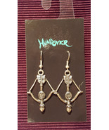 Metal Bow and Arrow Earrings made with Nickel Free hooks - $5.40