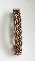 "Elegant Copper-tone Hair Clip Barrette 1980s Vintage 3 1/4"" - $12.30"