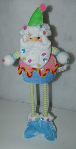 Sterling Santa Clown 15 Inches Stuffed Stick Figurine