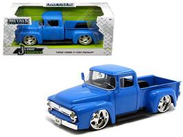 """1956 Ford F-100 Pickup Truck Blue """"Just Trucks"""" 1/24 Diecast Model Car b... - $45.00"""