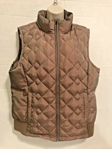 Ann Taylor Loft Large Sleeveless Goose Down Vest Zip Side Pockets Iridescent  - $24.75