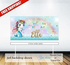Mermicorn birthday backdrop | Mermicorn birthday party backdrop| Mermiad... - $10.00