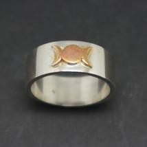 Silver Triple Goddess Ring - $52.00