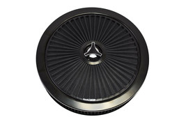 HIGH FLOW REPLACEMENT AIR CLEANER ASSEMBLY W/ FLOW-THRU LID AIR FILTER BLACK