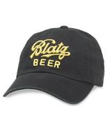 Blatz Beer Black Strapback Hat Black - $24.98