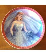 Collector Plate 1959 Barbie Ponytail Wedding Bride Porcelain Danbury Mint - $29.65
