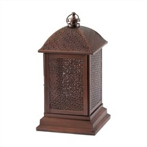 Large Bronze Metal Peregrine Candle Lantern - $36.00