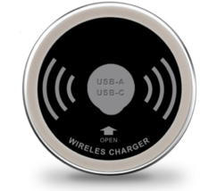 QI Output Fast Charging Pad Waterproof Stable Embedded USB Accessory Pow... - $76.55